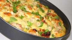 Картошка по-французски с курицей в духовке: рецепт с фото
