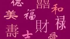 Китайские иероглифы удачи, любви и счастья