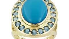 Кольцо с бирюзой - символ любви, удачи и признания