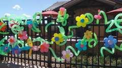 Композиции из воздушных шаров — проявите фантазию