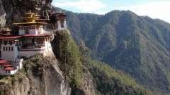 Королевство бутан. Бутан на карте
