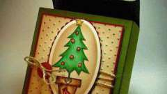 Красивая новогодняя коробка своими руками