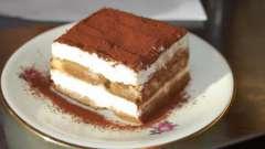 "Крем для тирамису в домашних условиях. Крем для торта ""тирамису"" с маскарпоне"