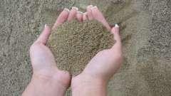 Крупный песок. Применение