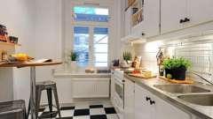Кухонная мебель для маленьких кухонь: экономим пространство