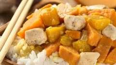 Курица с тыквой: вкусное блюдо к ужину