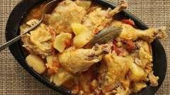 Курица тушеная с морковью и луком. Рецепты приготовления