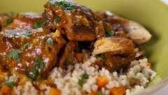 Курица тушеная с подливкой - несложный рецепт