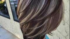 Мелирование на коричневые волосы: фото