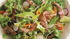 Мясной салат из говядины. Вкусный мясной салат: рецепт