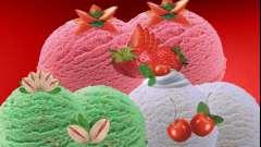 Мороженое с фруктами - легкое летнее настроение