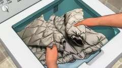На каком режиме стирать пуховики в стиральной машинке?