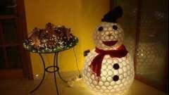 Необычная новогодняя игрушка из пластиковых стаканчиков. Как сделать снеговика из пластиковых стаканчиков
