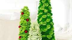 Новогодние елочки из фетра - красивое украшение для дома