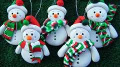 Новогодние игрушки из полимерной глины. Материалы для лепки. Мастер-класс