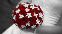 О чем могут свадебные букеты из роз