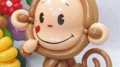 Обезьянка из шариков - забавная игрушка для ребёнка