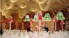 Оформление банкетного зала для свадебного торжества