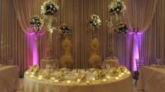 Оформление и украшение свадебного стола