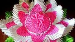 Оригами из модулей: цветок. Модульное оригами своими руками