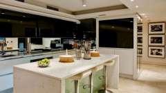 Оригинальный дизайн кухни-студии