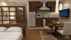 Оригинальный и стильный интерьер квартиры-студии
