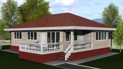 Особенности планирования одноэтажных домов. План дома 8 на 8 (одноэтажный)