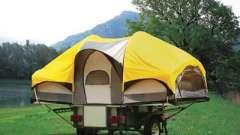 Палатка-прицеп для комфортного отдыха