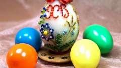 Пасхальные яйца из бисера - лучший подарок к празднику