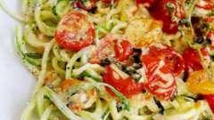 Паста с цукини и помидорами: несложные рецепты приготовления