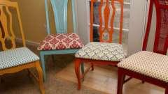 Перетяжка стула. Преображаем интерьер!