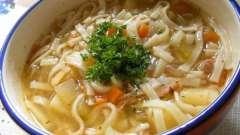 Первое блюдо. Рецепт: суп-лапша с курицей