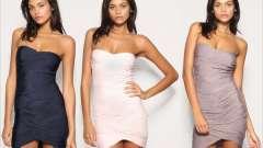 Платье-бандо – изысканный наряд для настоящей леди