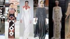 Платья в пол с длинными рукавами – предмет категории must have любого гардероба