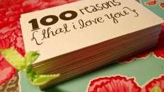 Почему я люблю тебя? 100 причин, почему я люблю тебя