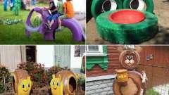 Поделки из шин для детской площадки своими руками
