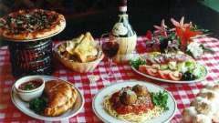 Поразительная и яркая кухня италии