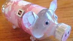 Поросенок из пластиковых бутылок - своими руками его сделать легко и просто!