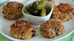 Пошаговый рецепт: гречаники с фаршем и грибной подливой