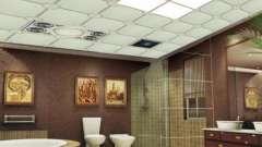 Потолки для ванных комнат: особенности оформления интерьера