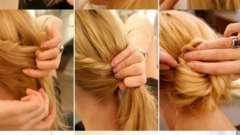 Прическа самой себе на средние волосы за 5 минут