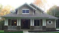 Проект дома 10 на 10. Одноэтажный дом 10 на 10 из бруса, пеноблоков