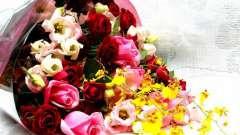 Рассмотрим, как составить букет из живых цветов