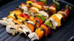 Рецепт: овощи на гриле. Два варианта приготовления