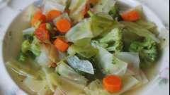 Рецепт зеленых щей на мясном бульоне