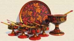 Роспись хохлома - русское искусство, появившееся в 17 веке