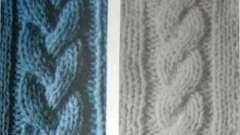Ручное вязание: как вязать косы спицами