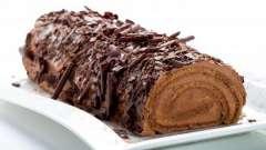 Рулет шоколадный: рецепты с фото