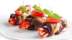 Рулетики из баклажанов с сыром и помидорами - вкусная закуска для праздничного стола