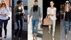 Рваные джинсы: с чем носить. Идеи и фото образов